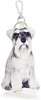 Cushion Co - Schnauzer Dog Pillow Key Chain Ring or Bag Charm