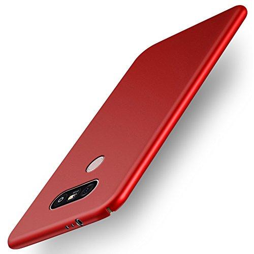 GOGODOG LG G3   LG G4   LG G5   LG G6   LG Q6   LG Q8 Funda Cobertura Total Ultra Fino Mate Anti Resbalón Rasguño Resistente para LG G3   LG G4   LG G5   LG G6   LG Q6   LG Q8 (LG G6, Rojo)