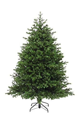 eveXmas Altair - Árbol de Navidad artificial tradicional (150 cm, 411 ramas, 100% polietileno, incluye soporte de metal)