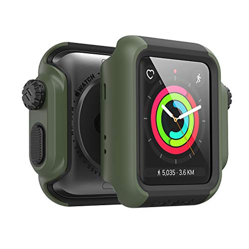 Catalyst Apple Watch 42 mm Cover Serie 3 e Serie 2 - Custodia Antiurto Grado Militare Protezione Apple Watch Series 2 Series 3 [Robusta Custodia Antiurto per iWatch] - Verde Militare