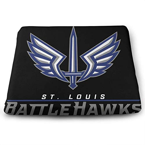 ADGoods Quadratisches Kissen Sitzkissen St-Louis Football-Season-2020-BattleHawks Printed Seat Cushion Memory Foam Seat Cushion Size 35 X 38 X 3 (cm)
