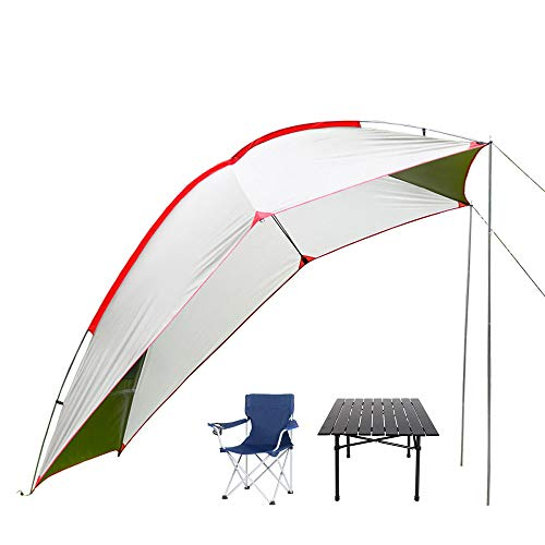 Car Awning Sun Shelter, SUV Tailgate Tent, Aluminum Alloy, With 4 x Foldable Chairs, FoldingTable, Waterproof Auto Canopy Camper Trailer Tent, Prefect For Outdoor Picnic and BBQ