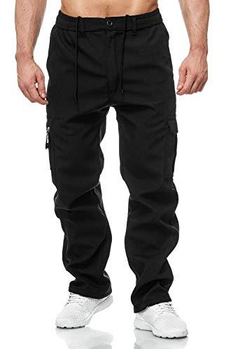 EGOMAXX Herren Cargo Hose Arbeitshose Gefüttert Workwear H2000, Farben:Schwarz, Größe Hosen:3XL