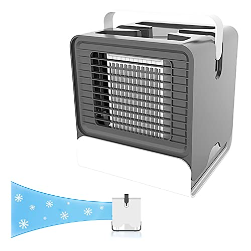 DSMGLSBB Ventilador Purificador Aire Portatil Pequeño Enfriador USB para Laptop Pc Pared Camper Coche Cámping Habitacion Carpa,Black