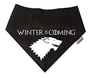 Spoilt Rotten Pets Dog Bandana–Game of Thrones Maison Stark de Winterfell pour Chiens '. Quatre Tailles de réglable à partir de Tiny Chihuahuas au Extra Large de Terre-Neuve.