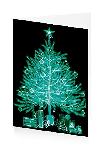 ArtPress Weihnachtskarte Nick Veasey X-Ray Weihnachtsbaum, 12 x 17 cm