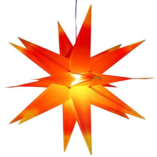 Preisvergleich Produktbild Weihnachtsstern Lampenschirm 50-60 Cm Adventsstern Licht Halter Weihnachtsdekoration Wetterfeste Lampenabdeckung Requisiten Für Party,  Restaurant,  Bar,  Café