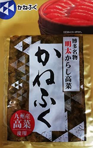 九州産高菜使用 博多名物 かねふく 明太 からし高菜 100g×10個セット