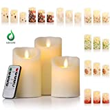 Candles Battery Operated, 7 Festival Sleeves Flickering...