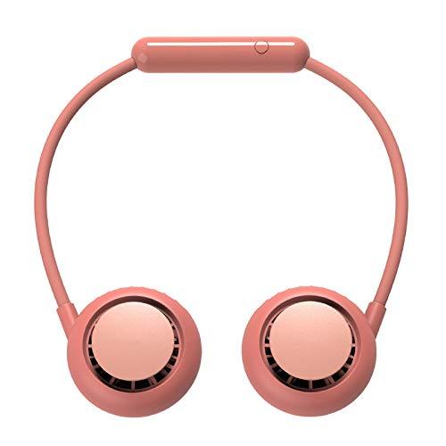 LEERAIN Ventilador portátil, mini USB, portátil, portátil, con gancho para el cuello, recargable, para el cuello