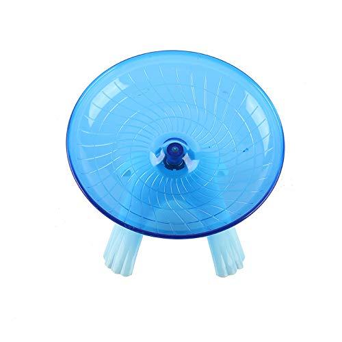 Semaxy 小動物用 回し車 ハムスター かわいいマウストンネル サイレントホイール 静かで 運動不足解消 ランニング ホイール 理想的な遊び場 ペット用品 小動物玩具 スタンド付き(ブルー)