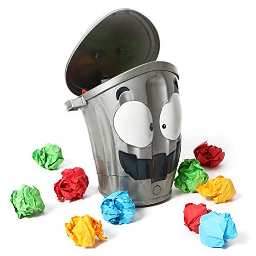 Bote de basura eléctrico para lanzar LOONY BIN Juego de fiesta Juego de lanzar bolas de papel en un bote de basura en movimiento Juguete familiar Disparar Juego interactivo Juguete para niños adultos
