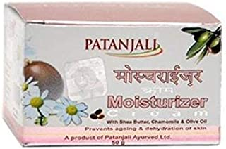 Patanjali Moisturizer Cream 50g With Shea Butter, Chamomile & Olive Oil Prevents Ageing & Dehydration Of Skin A Product Of Patanjali Ayurved