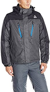 Mens Jacket 3-in-1 Versatility with its Waterproof, Insulated Shell Jacket and Insulated Liner
