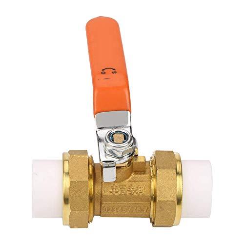DXX-HR Válvula de bola de tubo, 3/4' BSP DN20 1.6MPa Válvula de bola de tubo de latón duradero con doble PPR Hot Melt para aplicaciones de control de apagado uso industrial