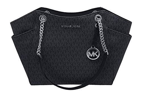 Michael Kors Women's Jet Set Travel Large Chain Shoulder Bag No Size (Black/Black)