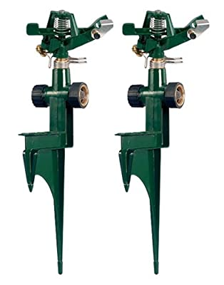 Orbit 56351N 56351 Zinc Impact on Metal Step Spike, 2-Pack, Green