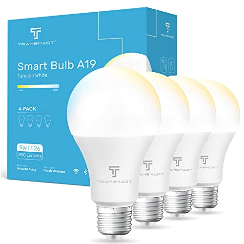 Alexa-Light-BulbWarm-White-Smart-WiFi-Light-Bulb-Compatible-Google-HomeA19-E26-800-Lumen-Dimmable-Smart-Bulb-100-Watt-EquivalentNo-Hub-Required-APP-and-Voice-Remote-Control24GHz-WiFi-Only4-Pack