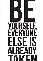 ポスター ウォールステッカー シール式ステッカー 飾り 210×297㎜ A4 写真 フォト 壁 インテリア おしゃれ 剥がせる wall sticker poster pa4wsxxxxx-010408-ds 英語 文字 王冠