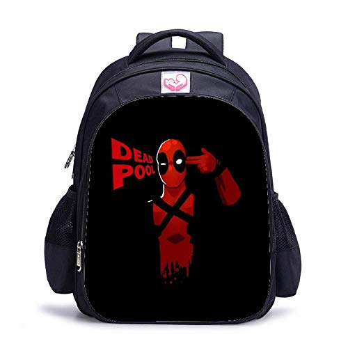 CLOUD Student School Bag Cartoon Animation Deadpool Children And Teenagers Leisure Travel Backpack Laptop Bag N-Large 32 * 17 * 42cm