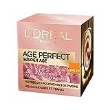 L'Oréal Paris - Age Perfect - Golden Age - Soin Jour Rose Re-Fortifiant FPS 20 - Anti-Relâchement & Eclat - Peaux Matures et Ternes - 50 mL