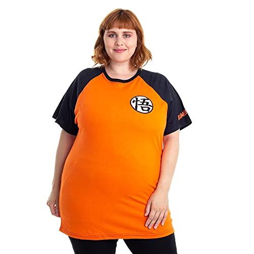 Camiseta Dragon Ball Kamehameha, Piticas, Unissex, Laranja, 06