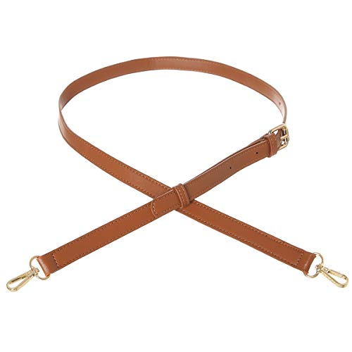 Premium Microfiber Leather Purse Straps Replacement Crossbody with Adjusatble(Brown)