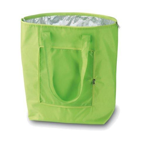eBuyGB Kühltasche, zusammenfaltbar, Polyester, grün, 21,59 x 11,99 x 4,6 cm