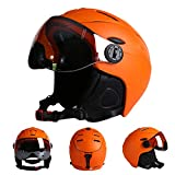 Casco de Esquí con Gafas de Esquí Casco Unisex para Deportes de Invierno,Con...