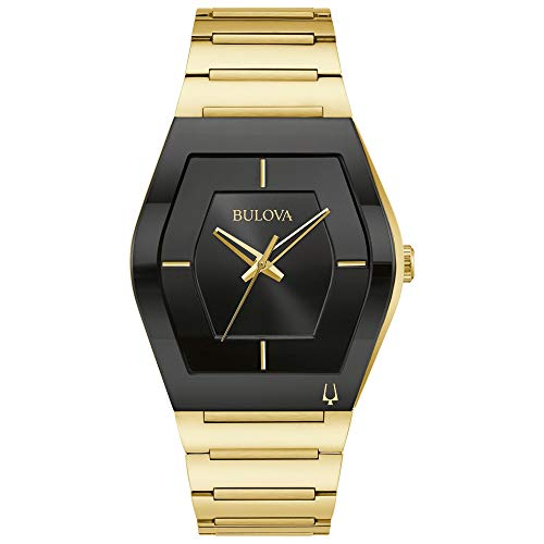 Relógio masculino Bulova Grande Gemini Futuro Dourado Pulseira de Aço Inoxidável 97A164