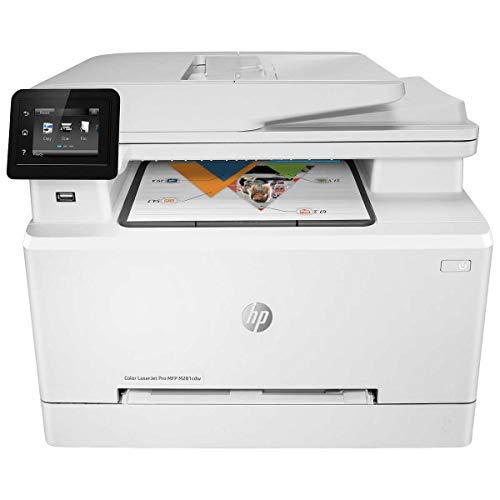 HP Laserjet Pro M281cdw All in One Wireless Color Printer, Scan, Copy and Fax with Ease with Bonus of 30 Sheets of HP Brochure Paper (T6B83A) - Premier Edition