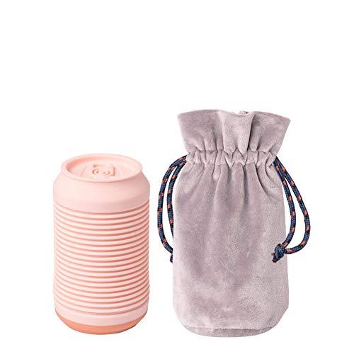 CJCJ-LOVE Botella De Agua Caliente Creativa, Pequeña Bolsa De Agua Tibia con Bolsa De Franela...