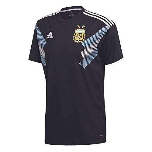 adidas - Camiseta de visitante de Argentina Unisex para niño, Todo el año, Replica de Argentina, Unisex niños, Color Negro/Azul/Blanco, tamaño 128.0