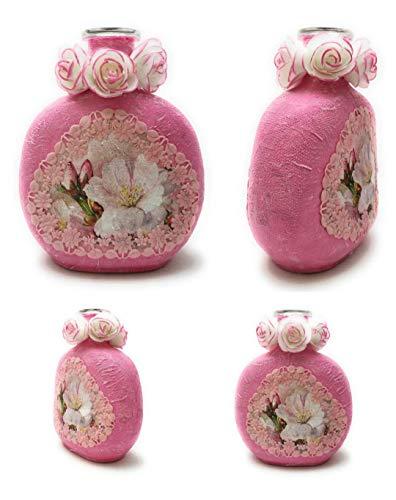 Botellas con suerte - Botella Vino Mateus - Botella Decorativa Reciclada de color rosa