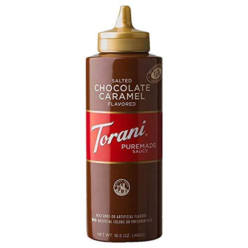 Torani Puremade Salted Chocolate Caramel Sauce, 16.5 Ounces