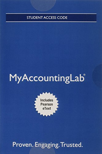 Mylab Accounting with Pearson Etext -- Access Card -- For Horngren's Cost Accounting