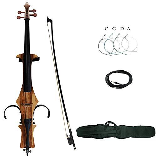 Aliyes - Cello eléctrico de madera maciza profesional 4/4