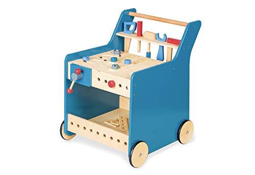 PINOLINO 229464 Werkzeugwagen 'Kalle', blau, Transparent