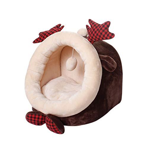Huisdier Bed Huisdier Huis Kat Hond Bed Winter Warm Kennel Kussen Grot Herten Gevormd Huisdier Bed, Machine Wasbaar Draagbaar En Geen Verschijnen Huisdier nest