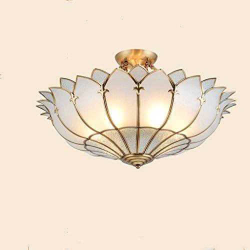 Vast Semi Flush Mount plafondlamp, alle koperen LED-plafondlampen, 4-draads spaarlamp voor woonkamer 317