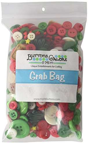 Buttons Galore GB117 Christmas Grab Bag with Craft and Sewing Buttons, 6-Ounce