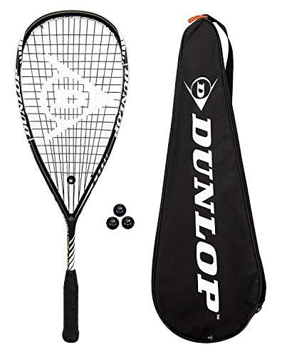 Dunlop Blackstorm Titanium 2.0 Squashschläger + 3 Squashbällen
