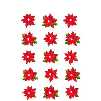 Christmas Poinsettia Layered 3D Stickers