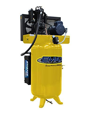 5 HP Quiet Air Compressor, 1PH, 2-Stage, 80-Gallon,...