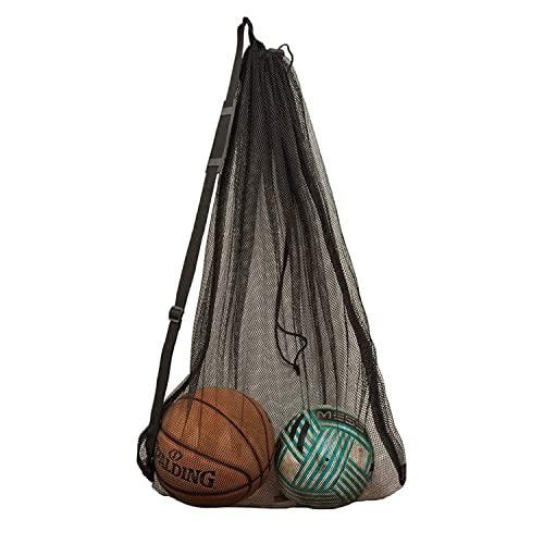 DoGeek Mesh Bag Durable Mesh Drawstring Bag Gym Sports Equipment Bag Large Mesh Net Bag (1PCS)