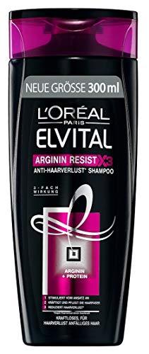 L'Oréal Paris Elvital Shampoo Arginin Resist, 3er Pack...