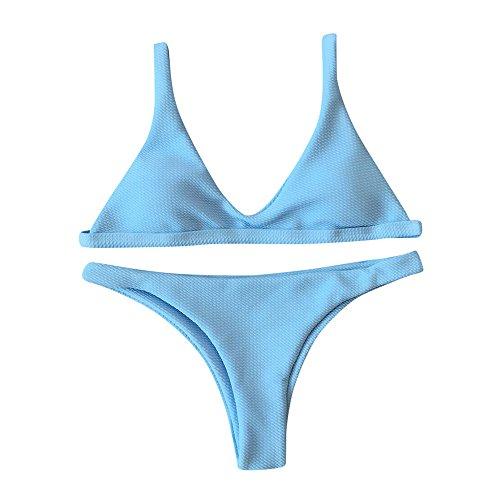 UOKNICE Swimwear for Womens, Summer Beach Bandage Push-up Padded Bra Set Bathing Beachwear Tankini Bikini online stores shop tankinis crop best boutique where to buy orange