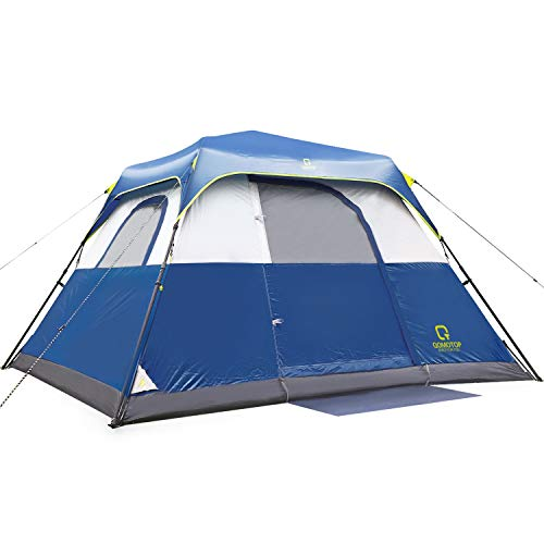 OT QOMOTOP 4 People Cabin Tent, Upgrade Camping Tent, 60 Seconds Set...