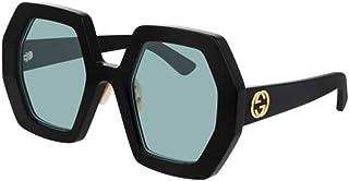 غوتشي GG0772S نظارة شمسية أسود/ أزرق 5/26/145 للنساء