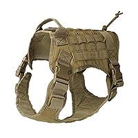 Qees - GGBX03 - Gilet-harnais de dressage pour chien - Nylon 1000D - Ultra résistant - Système Molle